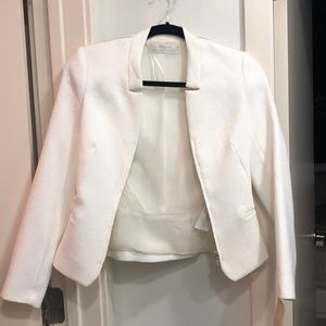 Zara white blazer XS